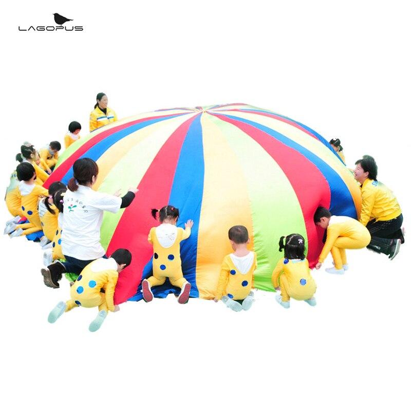 Paraguas Arco Iris juguete paracaídas juegos de niños Multicolor de paracaídas de Nylon juguete para niños juegos de deportes al aire libre nuevo y divertido