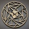 Настенные 3d-часы  12 дюймов  скандинавские деревянные настенные часы  современный дизайн  бесшумные креативные настенные часы  Деревянный/до...