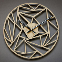 3D Hanging Clocks Wall 12Inch Nordic Wooden Wall Clocks Modern Design/Silent Creative Wall Watches Wood/Home Decor Unique Design