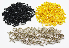 Niko Pack of 50pcs Chrome/Black/Gold Guitar Pickguard Mounting Screws 3*12mm For ST/TL LP/SG Electric Guitar Bass