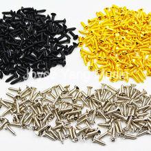 Paquete de 50 Uds. De tornillos de montaje para golpeador de guitarra de Cromo/Negro/oro 3*12mm para guitarra eléctrica ST/TL LP/SG