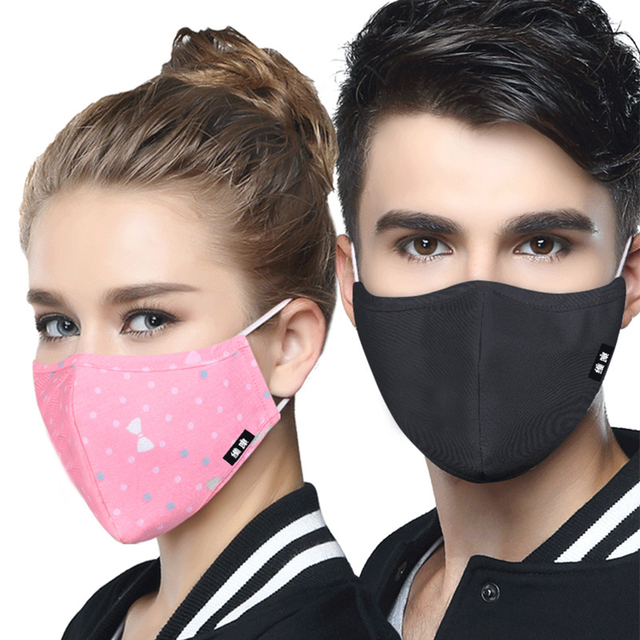 43918dc8a Anti PM2.5 Fabric Face Mask Korean Style Mask On The Mouth Anti dust mouth
