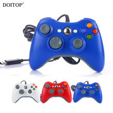 DOITOP USB Wired Game Gamepads Controller For Microsoft Xbox 360 Gaming Joystick Joypad Controller For XBOX360 PC Windows 7/8/10
