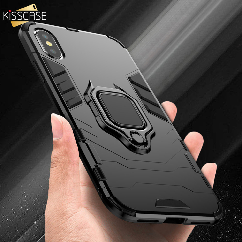 KISSCASE Case For iPhone 8 Plus 8 7 Vintage Armor Cases For iPhone XS Max XR XS X 8 7 6S 6 Plus 5S 5 Se Cover Capa Capinhas Bag