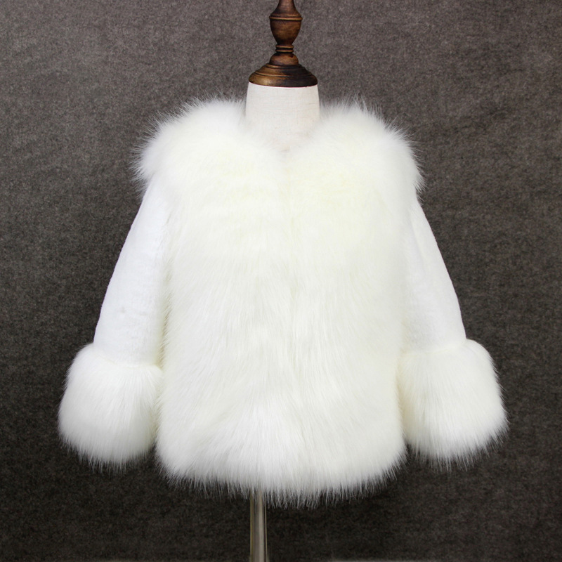 2018 Girls Fur Coat Elegant Toddler Girl Faux Fur Jackets Thicken Princess Parka Kids Girls Snowsuit Warm Winter Children Coat цена