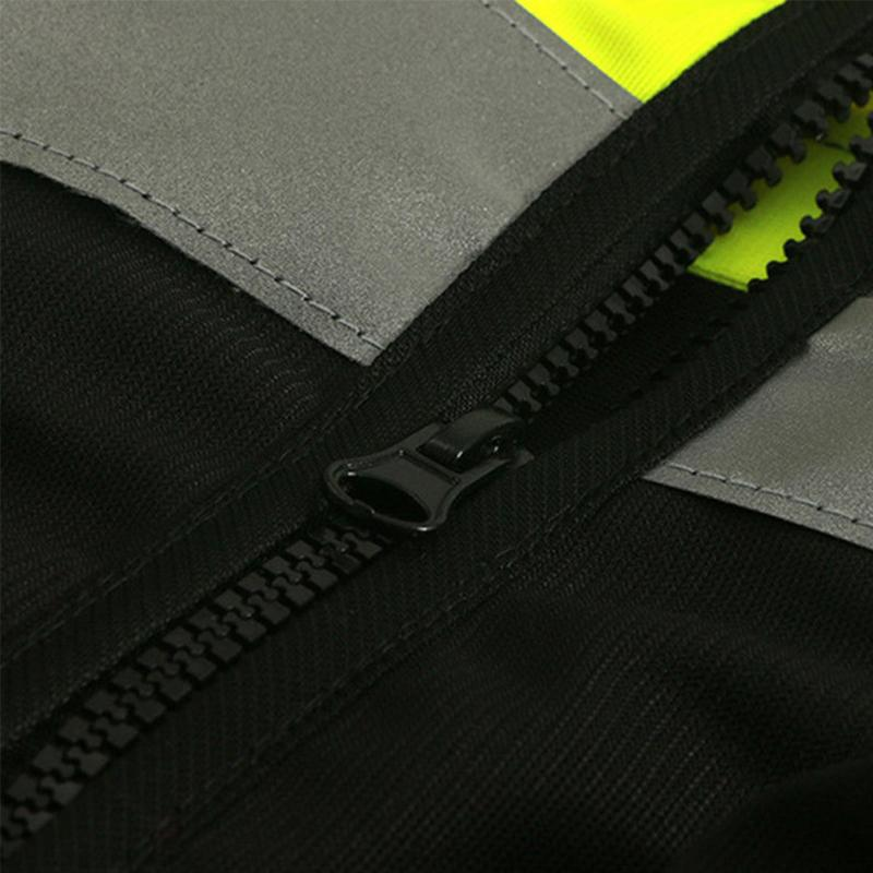 1Pc Security Visibility Reflective Vest Warp Knitting Cloth Construction Traffic Cycling Wear Reflective Safety Clothing New 3