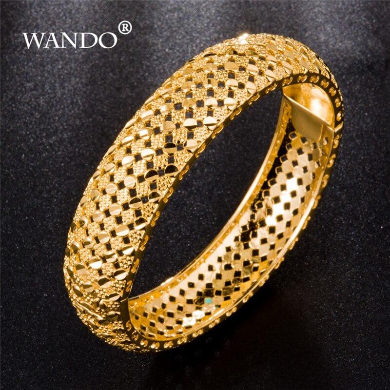 WANDO-de-lujo-et-ope-abierto-brazaletes-para-las-mujeres-24-k-oro-Color-Dubai-pulsera
