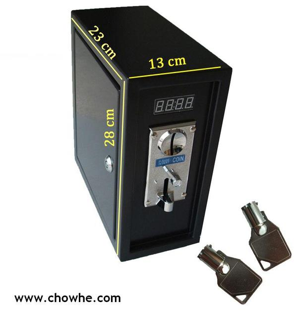 PC coin operated Timer Control Board Power Supply box with coin selector acceptor timer board wires box for computer, coin box