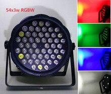 Высокая мощность 54×3 Вт rgbw dj led плоским номинальной света мыть светодиодный свет этапа бесплатная доставка