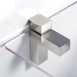 2 sztuk regulowany uchwyt szkła z litego metalu drewna/szkła wspornik półki półka do montażu na ścianie w łazience zacisk klip okucia do mebli w Zaciski do szkła od Majsterkowanie na