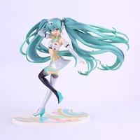 2017 Anime Hatsune Miku Figma Racing Miku Girl PVC Action Figures Model Toys Dolls 20cm