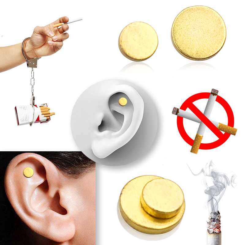 4 PCS Magnet Auricular Quit Smoking Zerosmoke ACUPRESSURE Patch Not Cigarettes Health Therapy