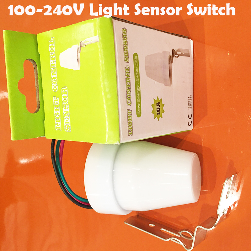 Outdoor Intelligent waterproof 110-240v light/photo control sensor switcha automatic photocell switch for lamps 1pc YY ac110 240v intelligent control switch electronic temperature automatic controller sensor for farming industry us plug