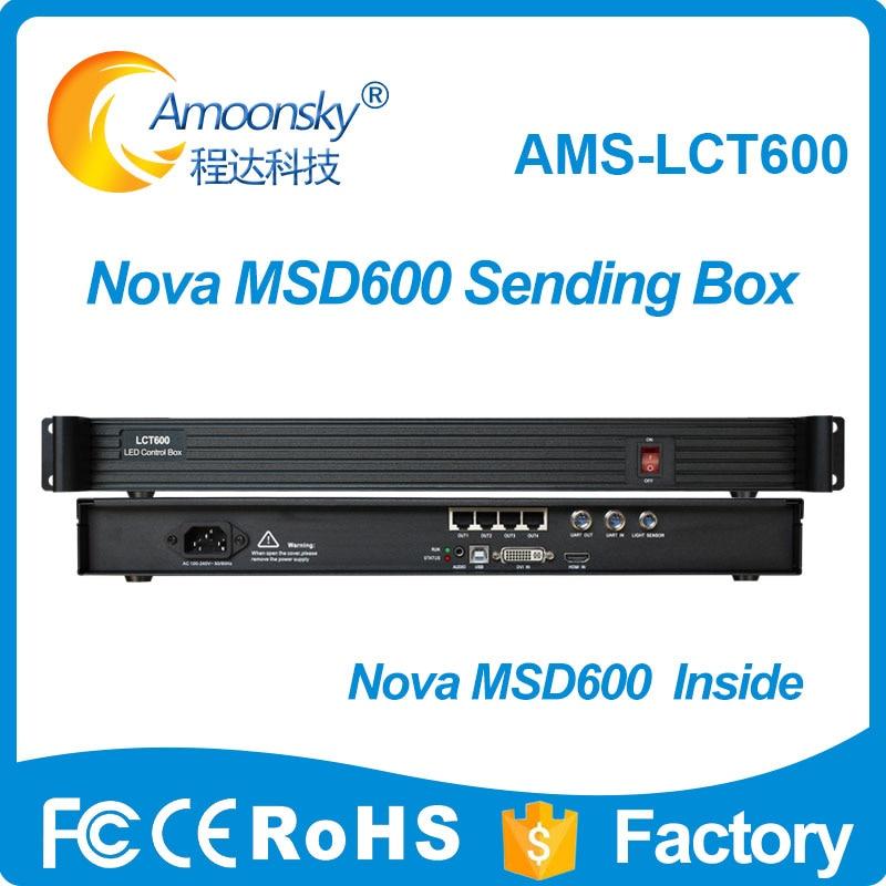 LCT600 compare novastar MCTRL600 controller LED display full color sending card msd600 LED full color video wall sending box цена и фото
