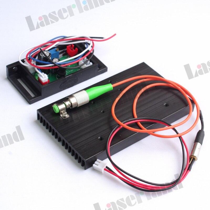 650nm 658nm 660nm 30mw 62.5/125um FC/APC Red Fiber Laser Module 12VDC TTL Driver 658nm 5mw 62 5 125um fc apc red laser pigtail fiber diode module 12vdc ttl 1m