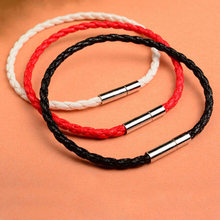 Fashion Leather Bracelet Women Black Red Thread Bracelets Men Wristband Rope Jewelry String Charm Bracelet pulseras mujer Gifts(China)