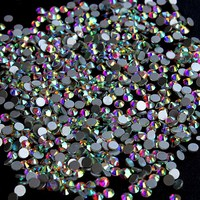 Crystal AB Rhinestones For Nails Design Strass Nail Art Decorations New Arrive SS3 Glas Rhinestones Manicure