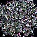 Crystal AB Rhinestones para Uñas Diseño Strass Nail Art Decoraciones Nuevo Llega SS3 Cristal Piedras Manicura 1440 UNIDS ZJ1086