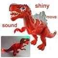 17 ''Modelo de Dinossauro Crianças Favorito Presente de Aniversário de Natal Piscando Soando Em Movimento Eletrônico Brinquedos de Dinossauros de Plástico