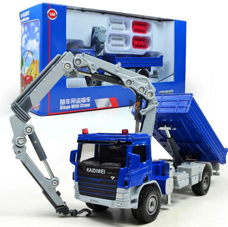 Free Shipping!2014 Super Cool ! 1 : 50 Alloy Slide Toy Models Construction Vehicles, Crane Truck Model, Baby Educational Toys