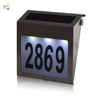 Outdoor stainless steel Solar Light Stainless Steel LED Doorplate Lamp House Number&letters Light Apartment Number Light