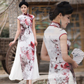 original Vietnam aodai Graceful Stand Collar Robes Elegant Design fairy Fashion high quality Improved Long Cheongsam Dress