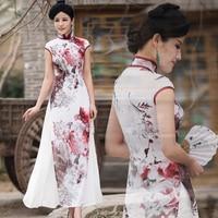 original Vietnam aodai Graceful Stand Collar Robes Elegant Design fairy Fashion high quality Improved Long Cheongsam Dress