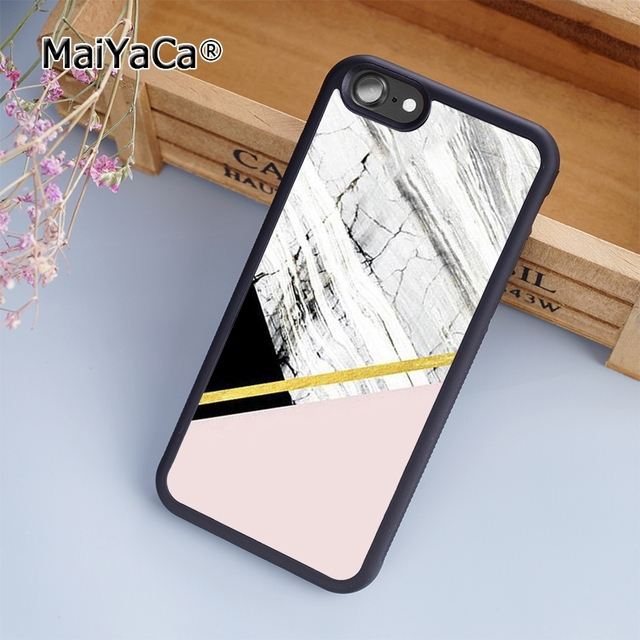 maiyaca new marble pink gold fashion soft mobile cell phone case