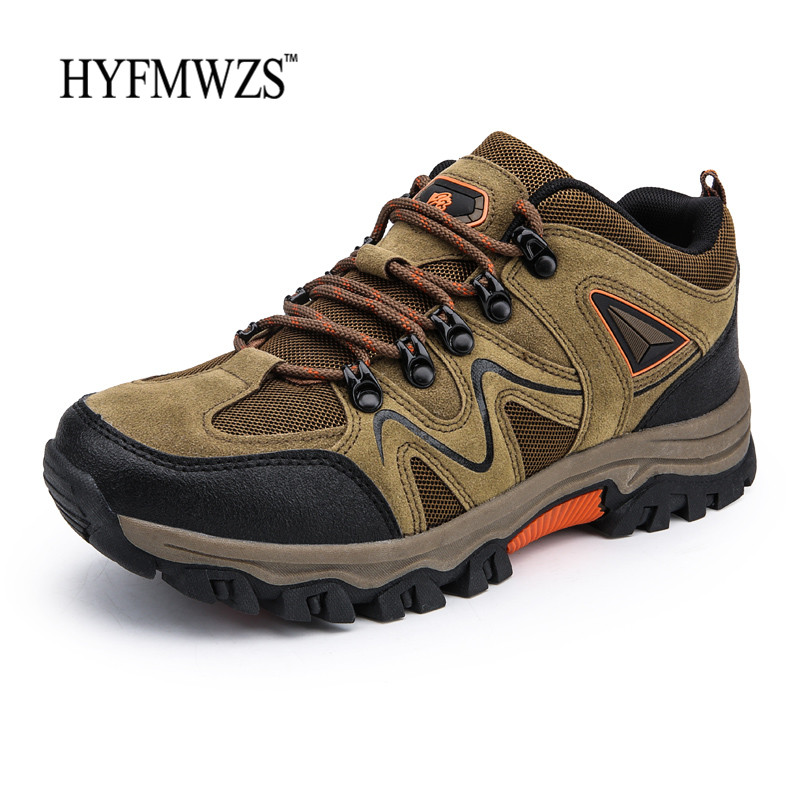HYFMWZS 2018 Tactical Boots Military Krasovki Outdoor Shoes Men Non-slip Hiking Shoes Men Breathable Mountain Shoes Hiking Boots
