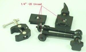 Image 2 - Bras magique de 11 pouces et grande pince Super tige réglable, ensemble QR pour trépied de caméra Fr Manfrotto 244RC