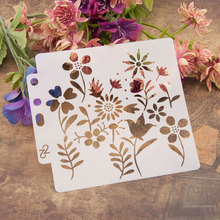 Flower Leaves Grass Sticker Painting Stencils for Diy Scrapbooking Stamps Home Decor Paper Card Template Decoration Album Crafts merry christmas trees sticker painting stencils for diy scrapbooking stamps home decor paper card template decoration album