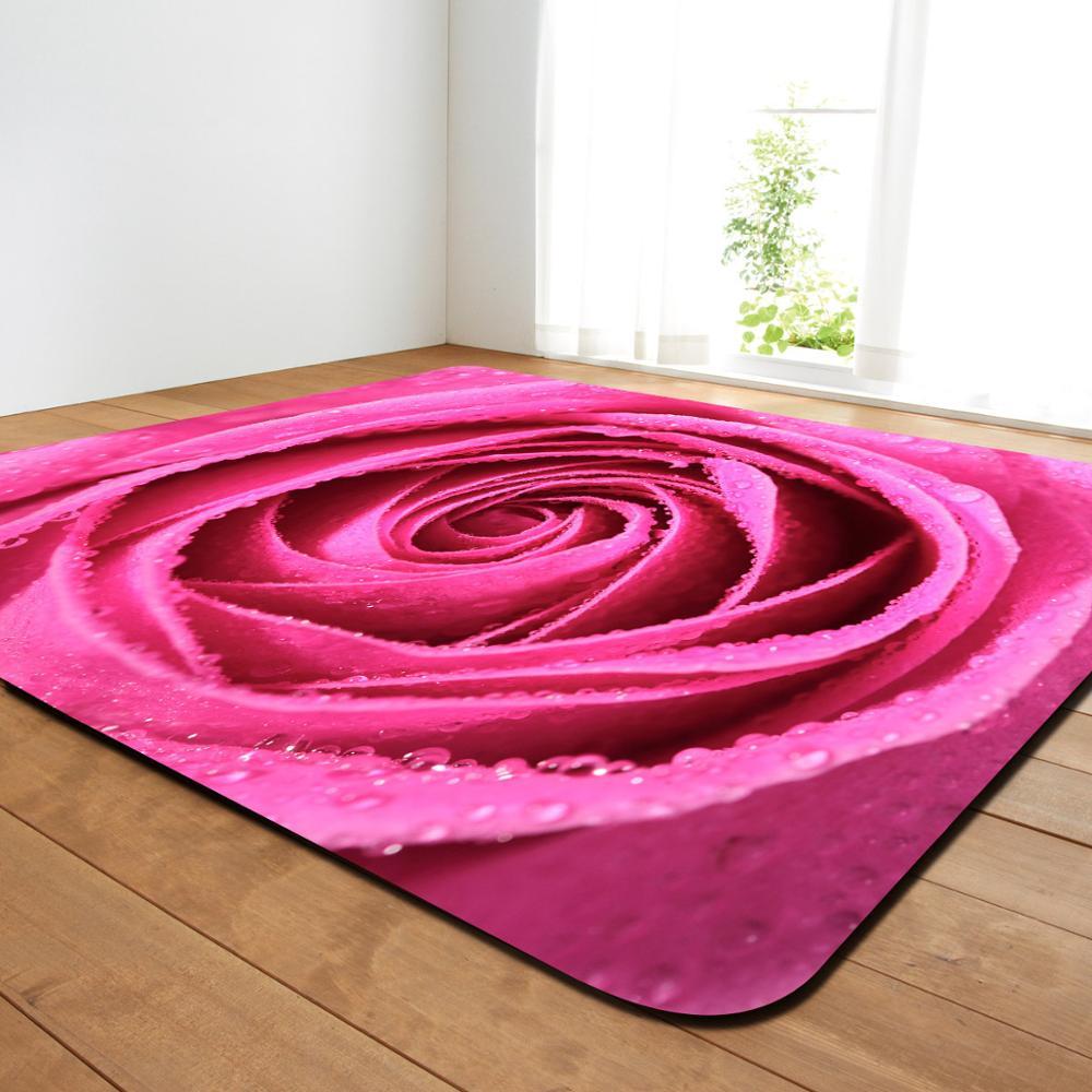 Belle 3D Rose impression tapis doux pour salon chambre tapis ménage grande surface tapis de sol tapis enfants chambre décor tapis