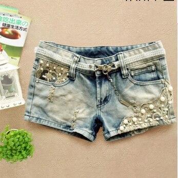 Denim Lace Shorts Jeans For Ladies Hot Short