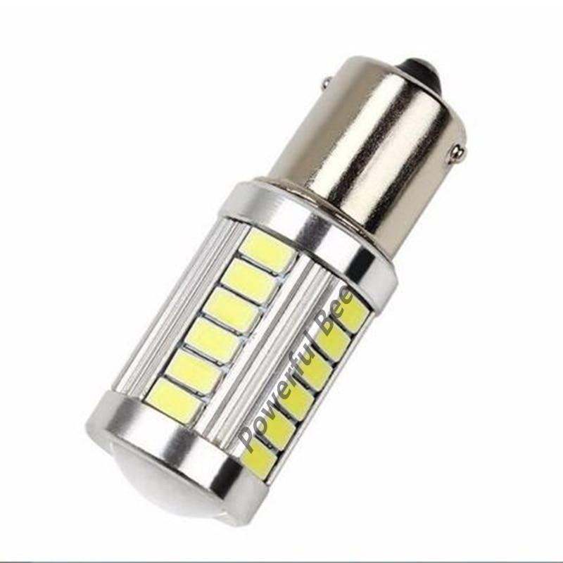 2 x BA15S/1156/P21W 33SMD 15W white red yellow led DC12V car reverse turn signal brake stop tail back fog lights bulb