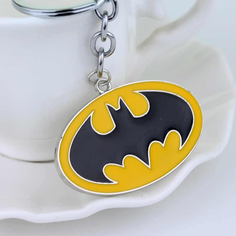 DC كاريكاتير الخارقين باتمان الخفافيش المعلقات المفاتيح باتمان v سوبرمان مجوهرات حلقة رئيسية سلسلة مفاتيح عمل الشكل تأثيري اللعب