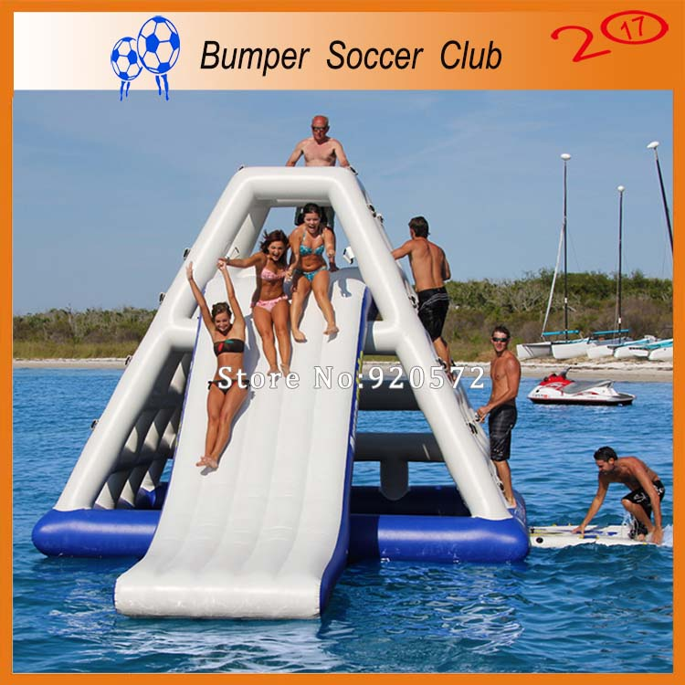Free shipping&pump ! 5x4m Outdoor Commercial Inflatable Water Slide with Pool,Used Cheap Water Slide For Kids and Adult commercial inflatable water slide with pool made of pvc tarpaulin from guangzhou inflatable manufacturer