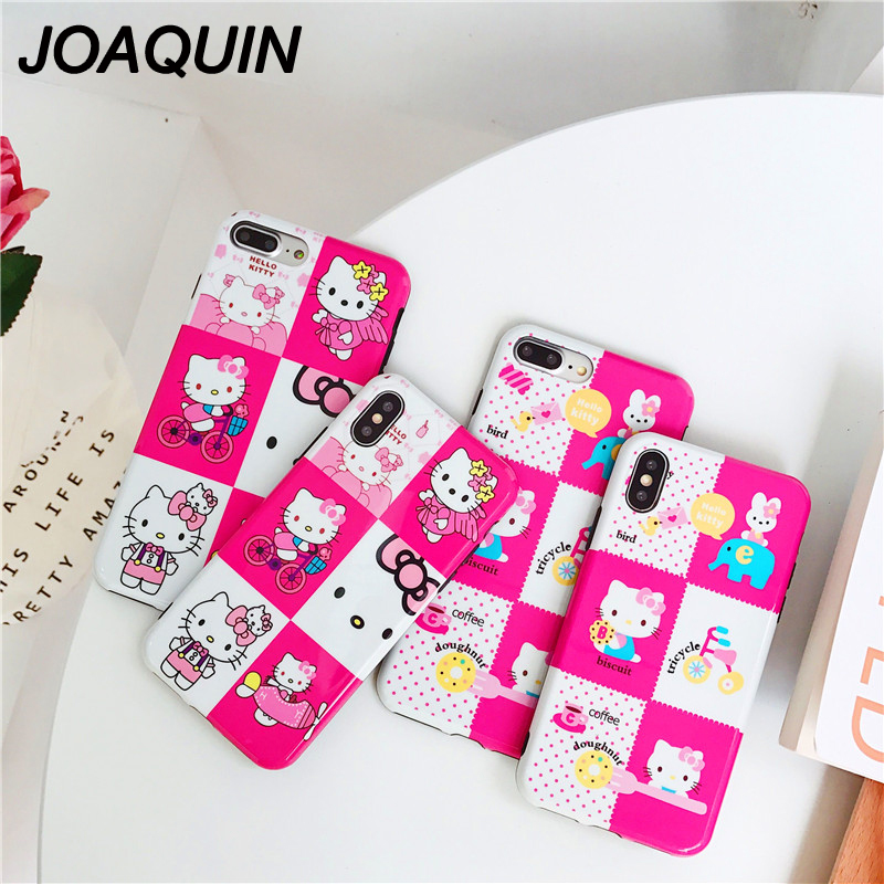 c9bdb71dbd98f1 2018 New Cartoon Cute Hello kitty soft Silicon case for iphone 6s 6 Plus  Full Body Protection coque For iphone X 7 8 Plus fundas