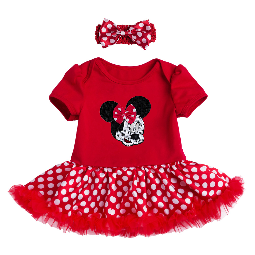Christmas 2Pcs NewBorn Baby Clothes Autumn/Winter Summer Cotton Baby Romper Red Infant Clothes Sets Polka Dot Baby Costume