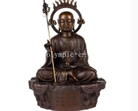 12''bronze Home Fengshui Decor buddhism buddha monk ksitigahba Buddhisattva