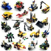 Policja miejska seria Mini policja Pilot pracownik blok edukacyjne do budowania klocki kompatybilne legoing miasto dzieci zabawki dla dzieci prezent