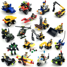 市警察シリーズミニ警察パイロット労働者ブロック教育ビルディングブロック玩具互換legoing市の子供キッズおもちゃギフト