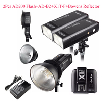 Godox AD200 2 шт. + AD B2 + X1T F + Bowens отражатель 400 Вт стробоскопа вспышкой для Fujifilm Камера