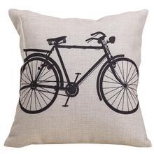 Linen Cushion Cover Creative Printed 45x45cm Pillow Case For Sofa Car Decorative Cotton Throw Pillows Cushion Home Textiles