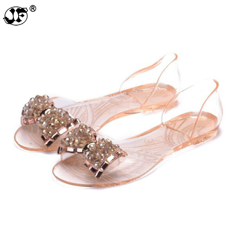 753 Summer Transparent Womens Sandals 2017 New Arrival Comfortable BowNot Flats Shoes For Woman Cover Heel Slip On Jelly Shoes753 Summer Transparent Womens Sandals 2017 New Arrival Comfortable BowNot Flats Shoes For Woman Cover Heel Slip On Jelly Shoes