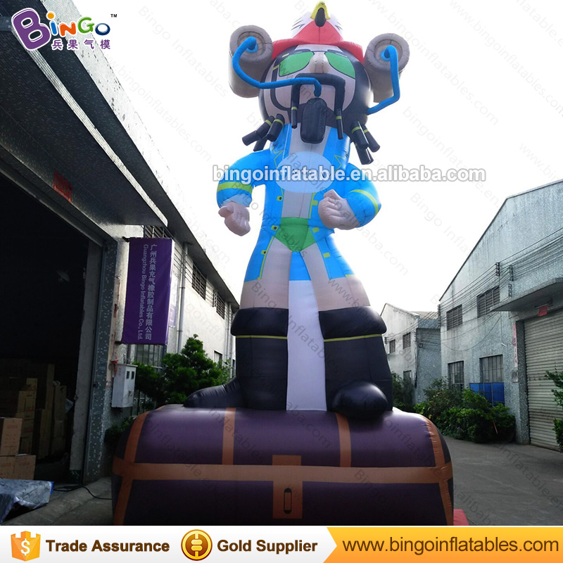 FREE POSTAGE 7m inflatable pirate captain cartoon toy / blow up pirate model decoration customized for advertising showFREE POSTAGE 7m inflatable pirate captain cartoon toy / blow up pirate model decoration customized for advertising show