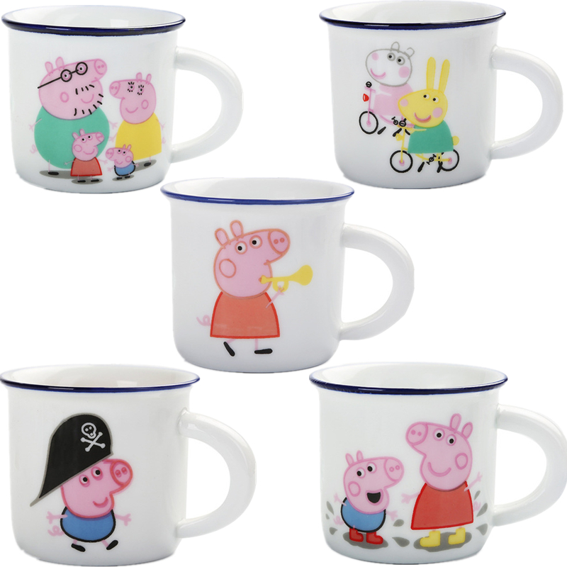 Peppa Pig Toys Children Cups Ceramic Toys Small Cups Containers George Characters Animated Models Birthday Gifts For Children