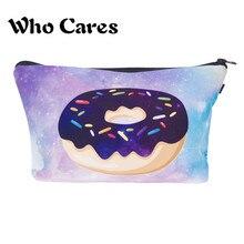 Women's Fashion Makeup Bags Cosmetic Bag  Pencil Case Space Donut Handbags Maquiagem neceser Organizer Travel Bags Pencil Bag