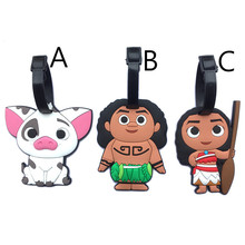 Купить с кэшбэком Moana Anime Travel Accessories Luggage Tag Suitcase ID Address Portable Tags Holder Baggage Label Gifts New