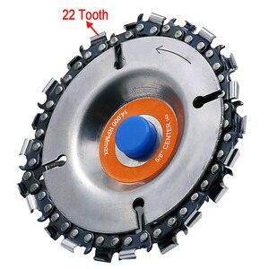 Image 2 - 4 بوصة طاحونة القرص وسلسلة 22 الأسنان غرامة قطع سلسلة مجموعة ل 100 مللي متر زاوية طاحونة