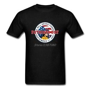 Nigdy nie zapomnimy 11 września T koszula z krótkim rękawem męska koszulka Pp grupa duży rozmiar bawełna śmieszne koszulki